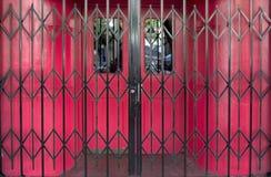 Portes verrouillées de bar. Photographie stock libre de droits