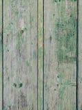 Portes vertes Texture en bois Vieille peinture minable et irradiée Images libres de droits