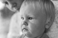 Portet crying baby Royalty Free Stock Photography
