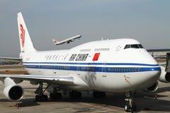 Porteur d'Air China Boing 747 Photos stock