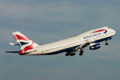 Porteur de British Airways Boeing 747 Photographie stock