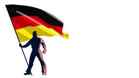 Porteur de drapeau Allemagne illustration stock