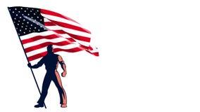 Porteur de drapeau Etats-Unis illustration stock