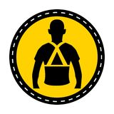 Portez l'isolat arrière de signe de symbole de soutien sur le fond blanc, illustration de vecteur illustration de vecteur