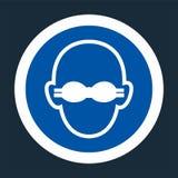 Portez la protection oculaire opaque pour se connecter le fond noir, illustration de vecteur illustration stock