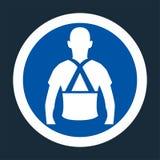 Portez le symbole arrière de soutien se connectent le fond noir, llustration de vecteur illustration libre de droits