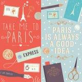 Portez-moi à Paris et Paris est toujours une bonne idée Photos libres de droits
