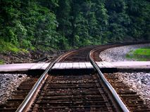 Portez-moi aux voies de train Photos libres de droits