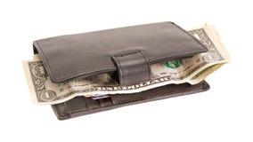 Portfel z dolarami i bank kartą Zdjęcie Stock