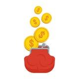 Portfel z pieniądze Obrazy Stock