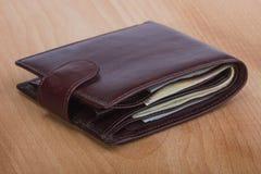Portfel z pieniądze Zdjęcia Stock
