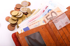 Portfla euro Obrazy Stock