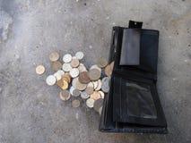 Portfla telefonu komórkowego rachunki Zdjęcie Stock