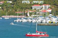 Portflotta i Tortola som är karibisk Royaltyfri Foto
