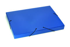 Portfolio. A blue portfolio isolated on a white background Stock Images