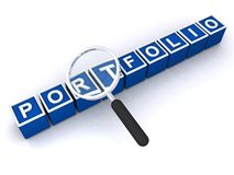 portfolio Imagem de Stock Royalty Free