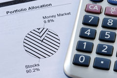 Portfolio allocation Stock Photography