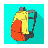 A portfolio of bicycles for carrying things behind.Cyclist outfit single icon in flat style vector symbol stock Royalty Free Stock Photos