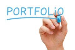 Portfolio-Blau-Markierung Stockfotos