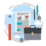Portfolio, business plan, report, business project vector concept Stock Image
