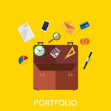 Portfolio with Coin Watch and Document Data Stock Photos
