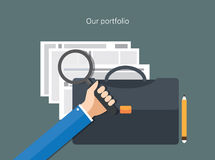 Portfolio concept flat design Stock Photography