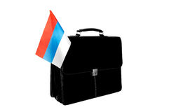 Portfolio with a flag Russia Stock Image