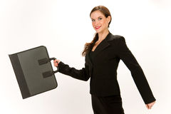 Business Woman with Portfolio Job Hunter Royalty Free Stock Images