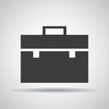Portfolio icon with shadow on a gray background. Vector illustration Royalty Free Stock Photo