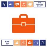 Portfolio icon symbol. Portfolio icon . Signs and symbols - graphic elements for your design Royalty Free Stock Image