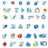 Portfolio icons royalty free illustration