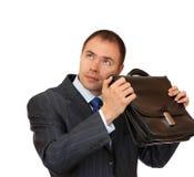 Portfolio investors in anticipation of profit. Royalty Free Stock Photos