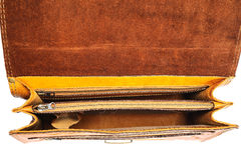 Portfolio leather. One portfolio leather on the white background Royalty Free Stock Photos
