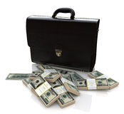 Briefcase and money Royalty Free Stock Image