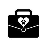 Portfolio with paw animal icon. Vector illustration design Royalty Free Stock Image