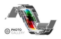 Portfolio for a photographer or studio. Vector illustration on white background Stock Photo