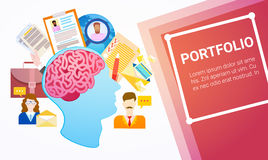 Portfolio Professional Occupation Business Web Banner Royalty Free Stock Image
