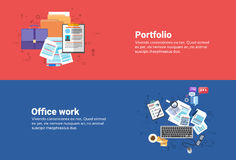 Portfolio Professional Occupation, Office Paper Document Work Business Web Banner Royalty Free Stock Photos