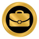 Portfolio symbol button. Portfolio symbol button on white background. Vector illustration Stock Images
