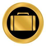 Portfolio symbol button. Portfolio symbol button on white background. Vector illustration Stock Photo