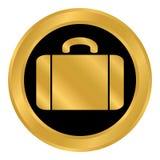 Portfolio symbol button. Portfolio symbol button on white background. Vector illustration Royalty Free Stock Photo