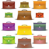 Portfolios of different colours and the sizes Royalty Free Stock Photography