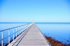 PortGermein Anlegestelle Stockfoto