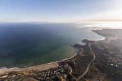 Portguesse弯和鲍鱼小海湾天线在加利福尼亚 免版税库存照片