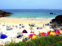 Portgwidden beach, St. Ives, Cornwall. Stock Photos