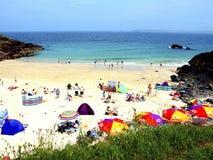 Пляж Portgwidden, St Ives, Корнуолл. Стоковые Фото