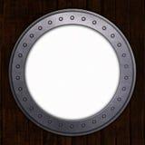 Porthål med vitt utrymme Fotografering för Bildbyråer