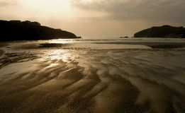 Porth Beach, Cornwall, England Royalty Free Stock Photos
