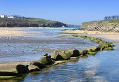 Porth Beach, Cornwall, UK. Royalty Free Stock Image