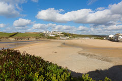 Porth beach Newquay Cornwall England UK Stock Photo